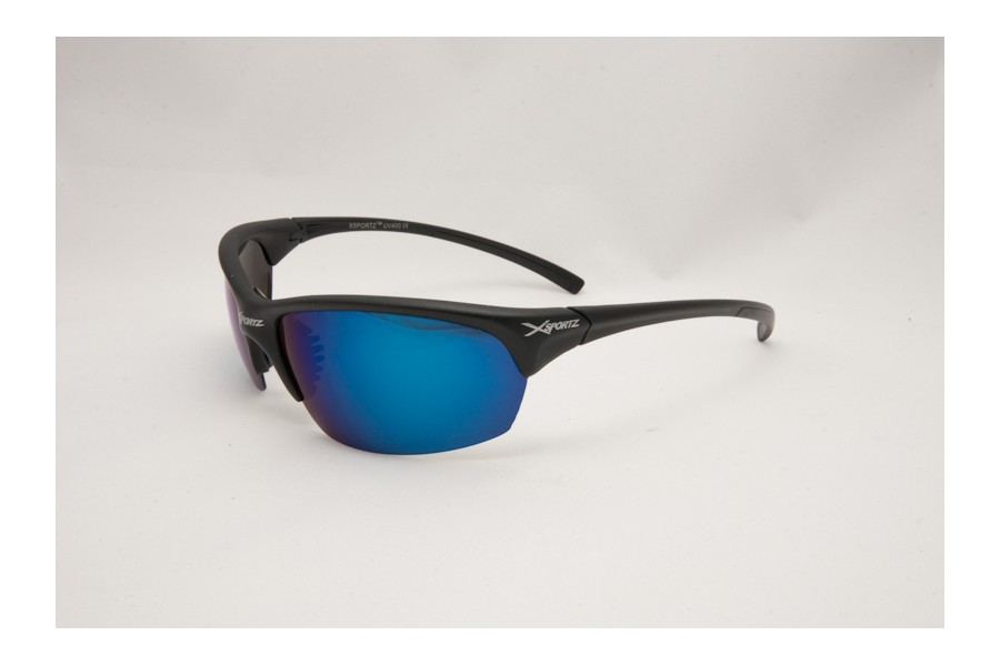 XXX - Black Blue Mens Polarised Sports Sunglasses