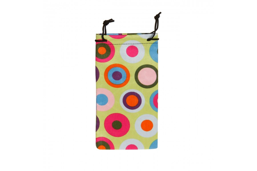 Cloth Case Pouch Polka - Green
