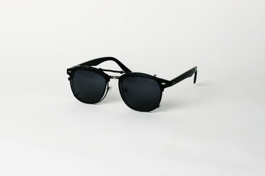 Kutcher – Black Clip on Spring Sunglasses