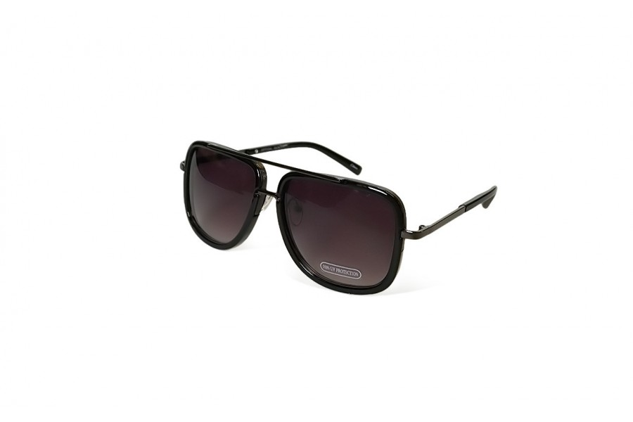 Knox - Black Aviator Sunglasses