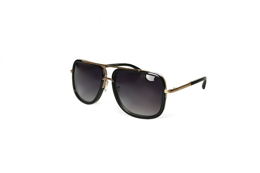 Knox - Black Gold Aviator Sunglasses