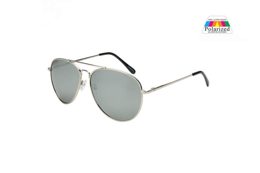 Pilot Aviator - Silver Mirror - Polarised