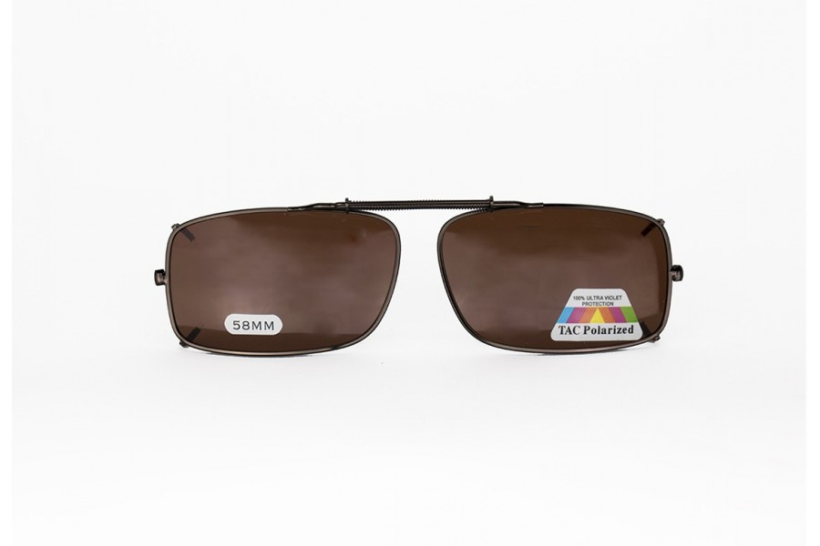 Michael - Polarised Clip-on Spring - Brown