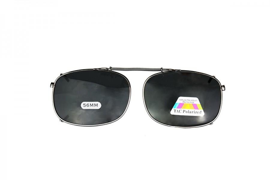 James - Clip on Spring Black Sunglasses