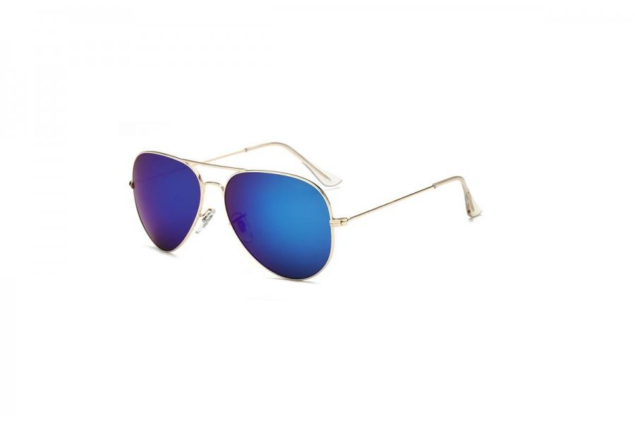 Hudson - Green Aviator Sunglasses