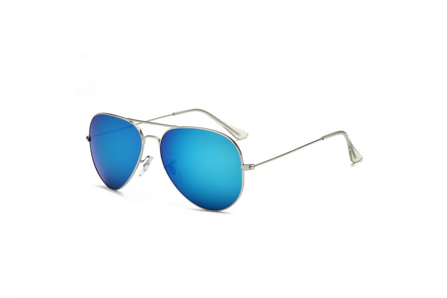Hudson - Blue Aviator Sunglasses