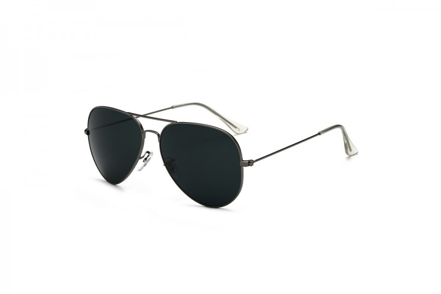Hudson - Black Aviator Sunglasses