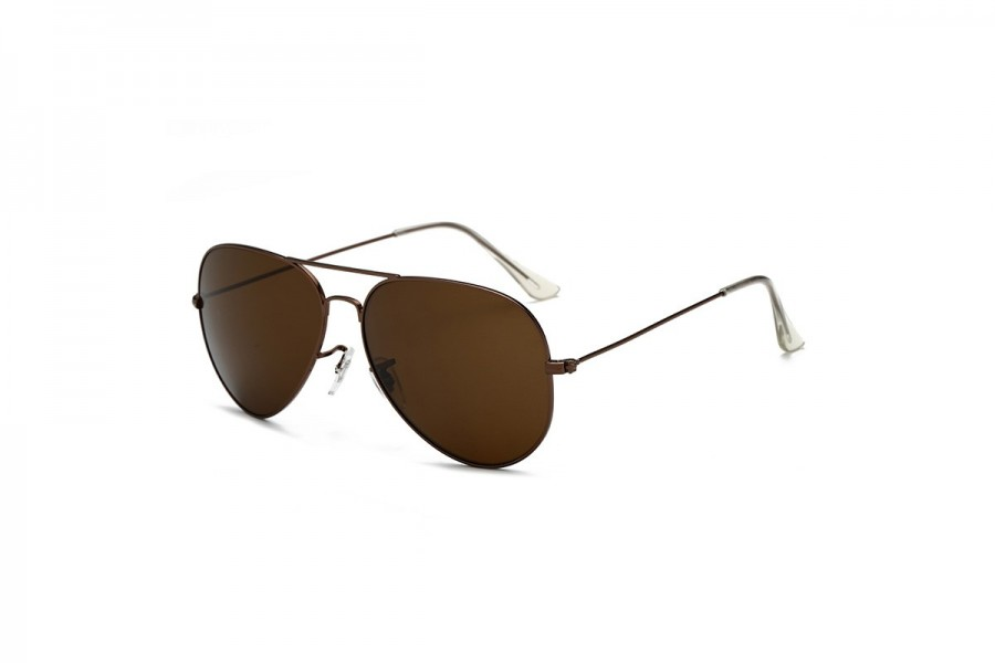 Hudson - Brown Aviator Sunglasses