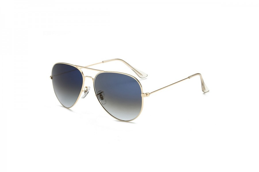 Hudson - Grey Aviator Sunglasses