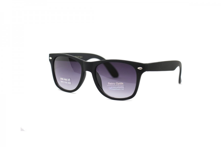 Stand by me - Kids Black Matte Sunglasses
