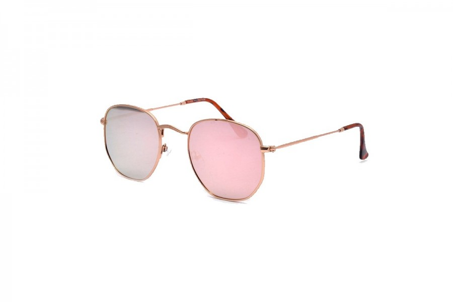 Drew - Rose Gold Round Sunglasses