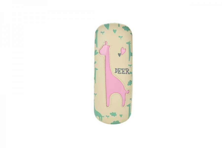Kids Deer Glasses Hard Case - Pink