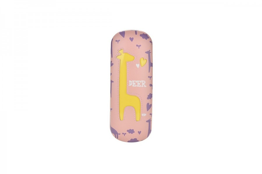 Kids Deer Glasses Hard Case -Yellow