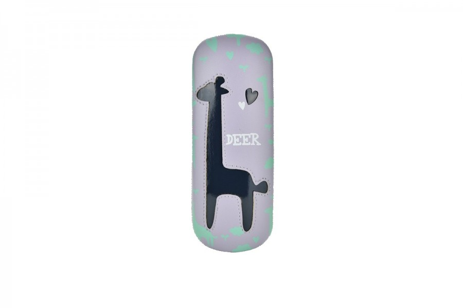 Kids Deer Glasses Hard Case - Blue