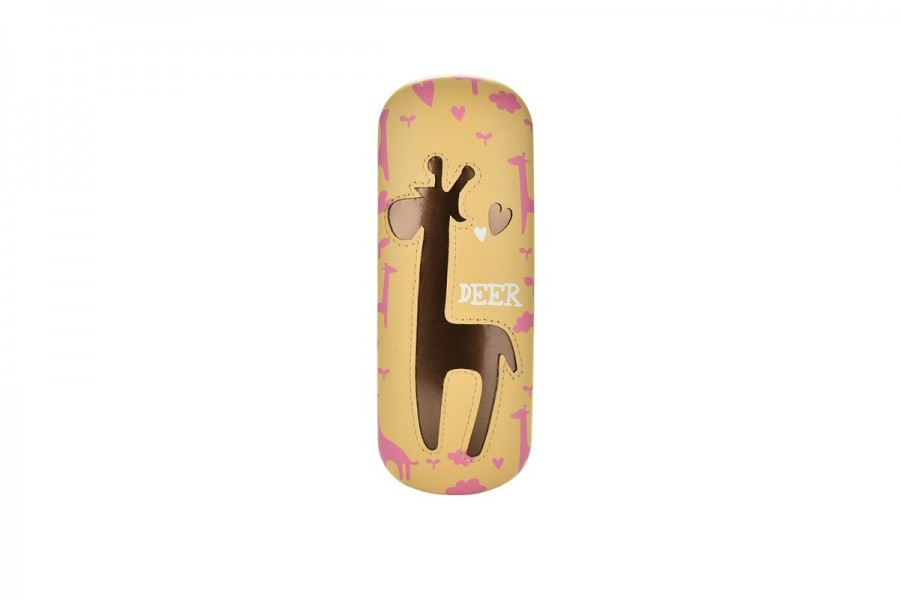 Kids Deer Glasses Hard Case - Gold