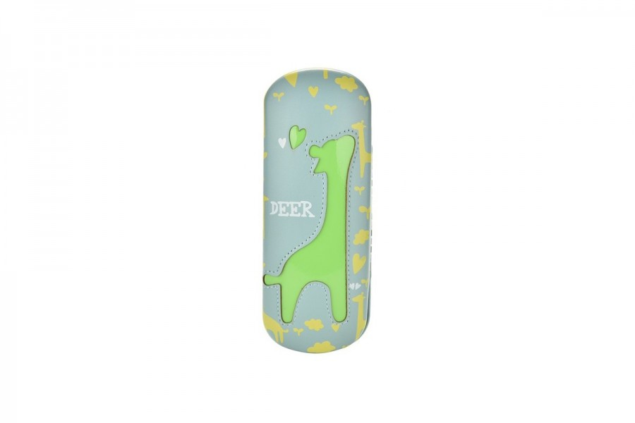 Kids Deer Glasses Hard Case - Lime