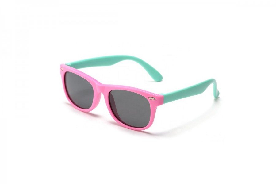 Felix - Pink Green Flexible Sunglasses for Kids