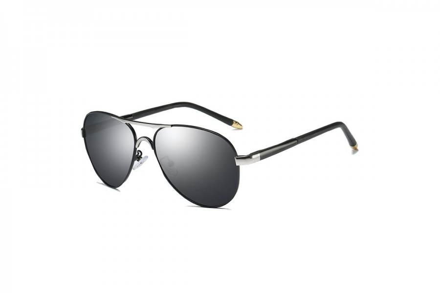 Cogan - Premium Black Polarised Aviators