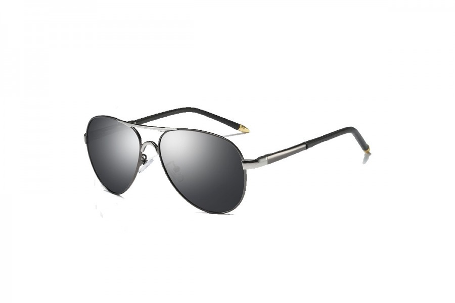 Cogan - Premium Gun Black Polarised Aviators