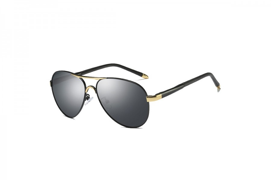 Cogan - Premium Gold Black Polarised Aviators