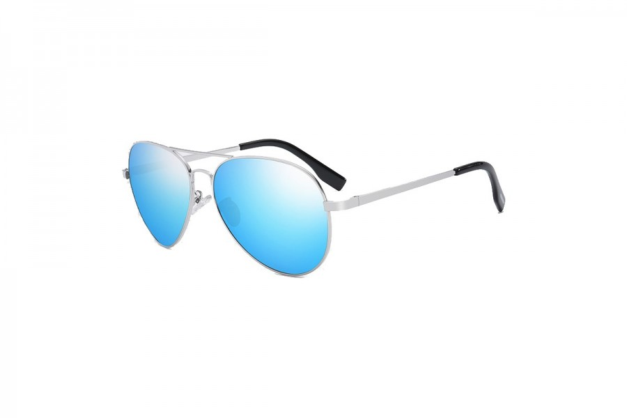 Foxx - Blue Polarised Aviator Sunglasses