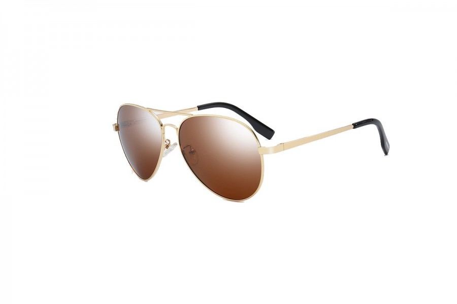 Foxx - Gold Polarised Aviator Sunglasses