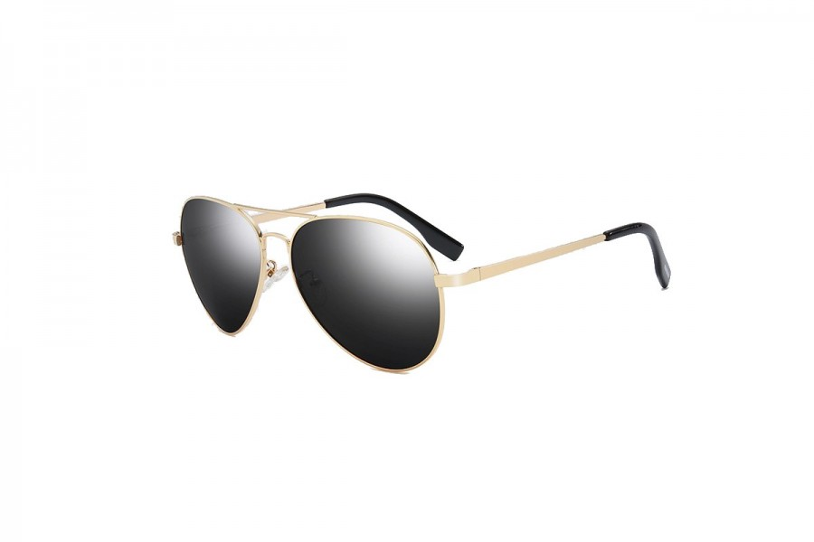 Foxx - Gold Black Polarised Aviator Sunglasses