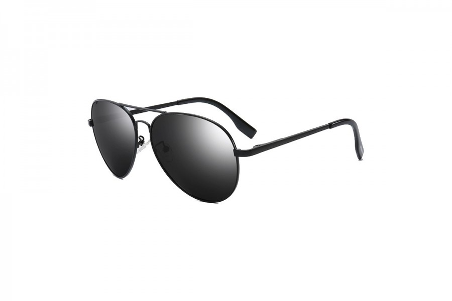 Foxx - Black Polarised Aviator Sunglasses