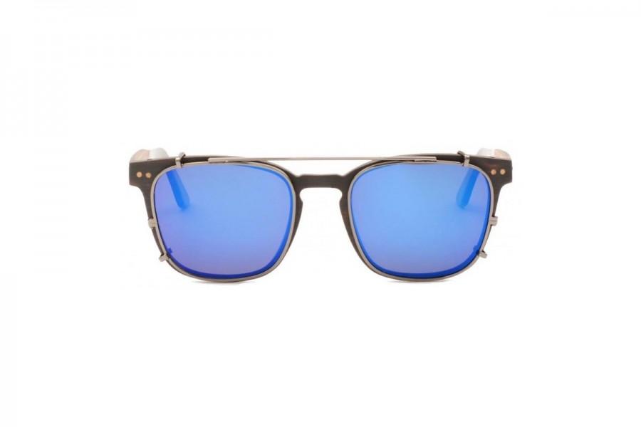 Hudson – Clip on Sunglasses Black Blue RV