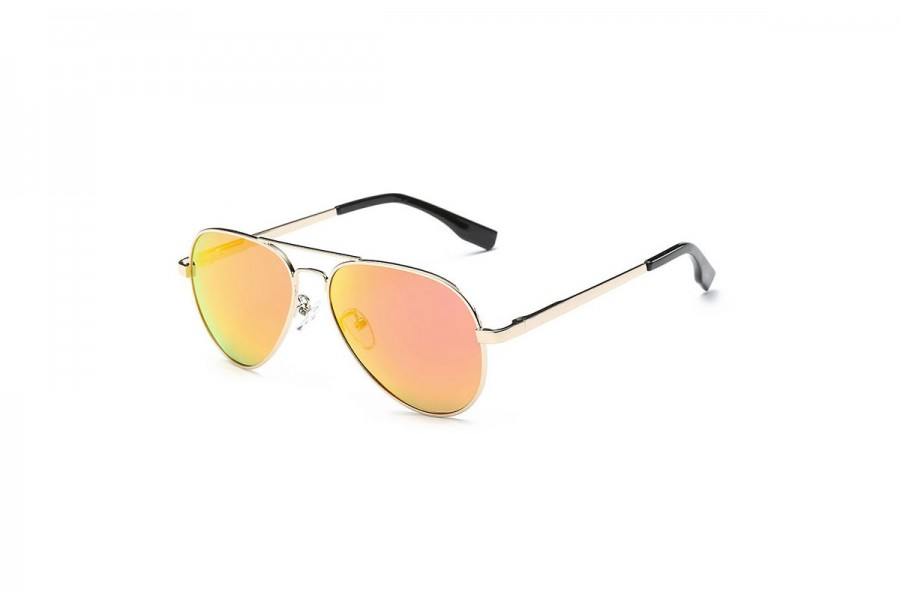 Premium Kids Polarised Aviator Orange RV