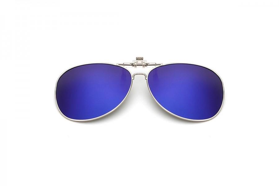 Caesar - Polarised Clip on for Aviators – Blue