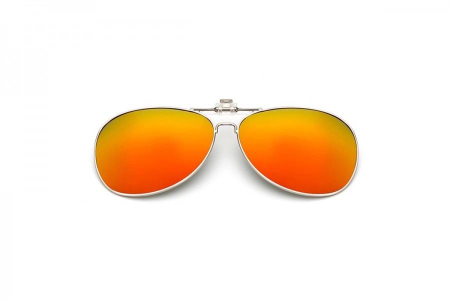Caesar - Polarised Clip on for Aviators – Orange RV