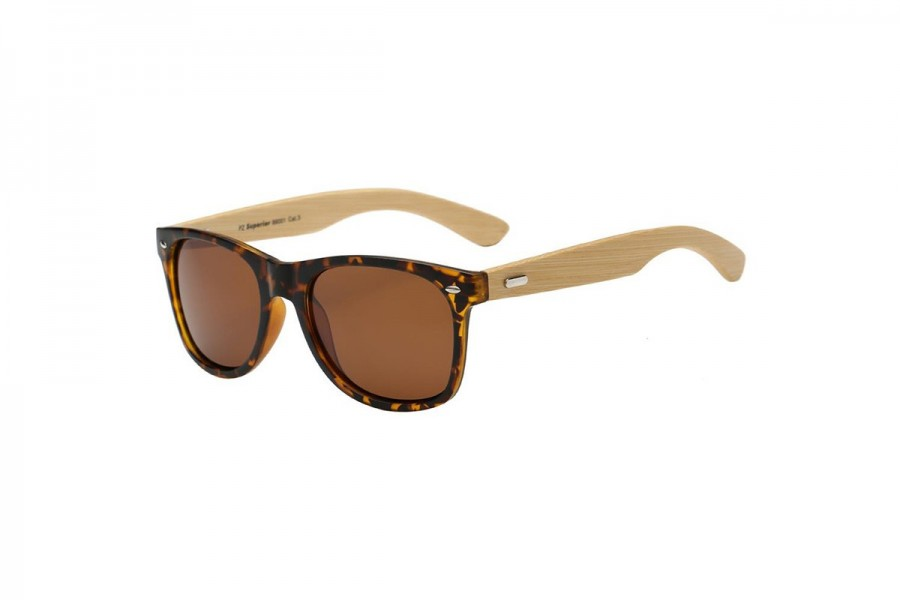 Bam - Tort Polarised bamboo sunglasses