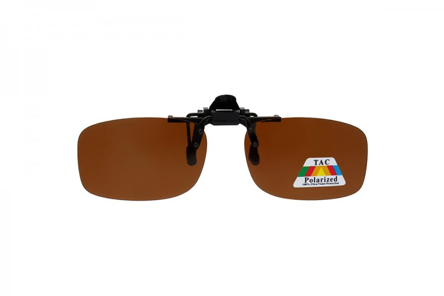 Affleck – Polarised Clip on Sunglasses Brown