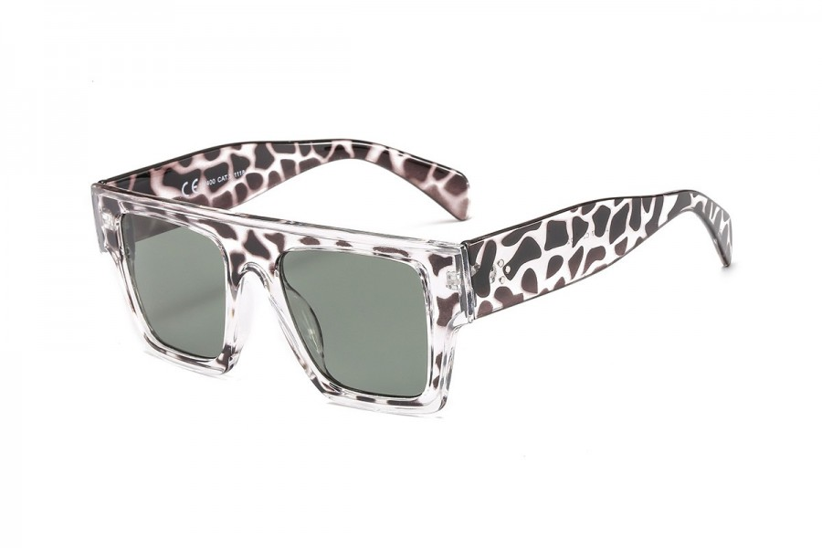 Alan - Wild Tort Chunky Flat Top Sunglasses